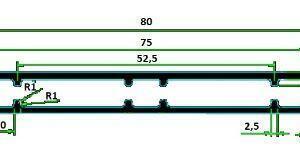 Profil kompozytowy 80mmx15mm